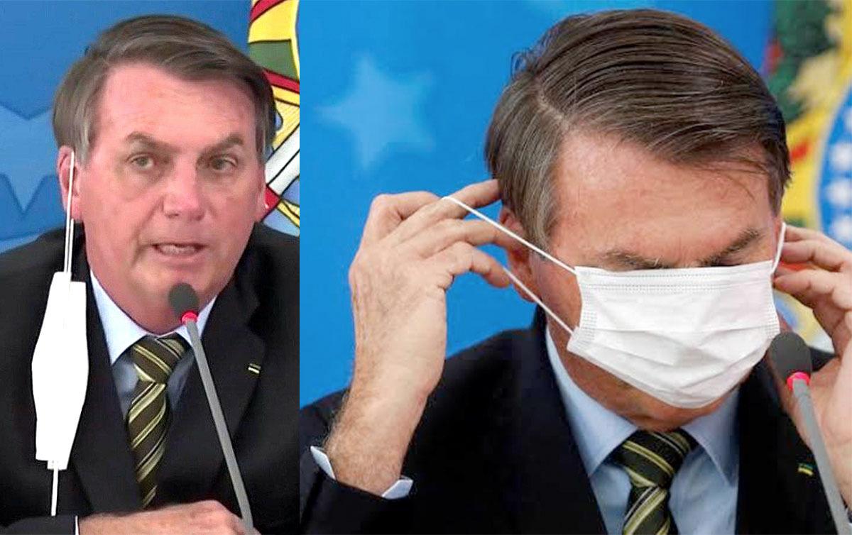 bolsonaro mascara coronavirus