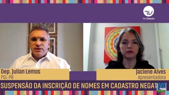 VÍDEO: Relator do projeto que proíbe a inclusão de nomes em cadastro de devedores durante a pandemia, Julian explica as regras