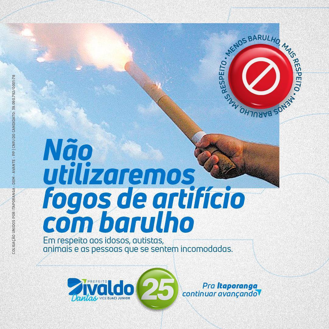 Demagogia: após anunciar que não usaria fogos de artifício na campanha, coligação de Divaldo solta girândola e ignora queimadas na zona rural de Itaporanga